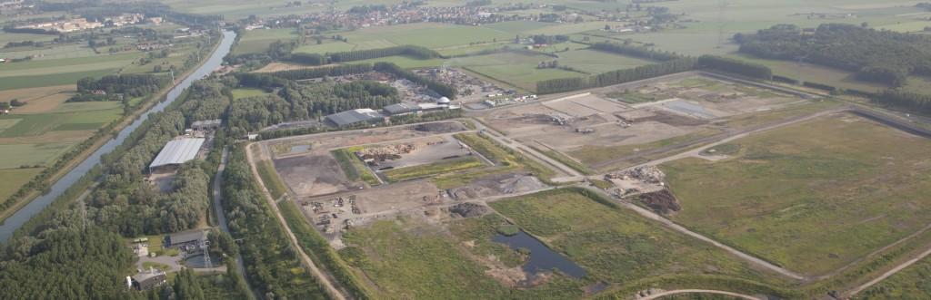 vue aérienne site