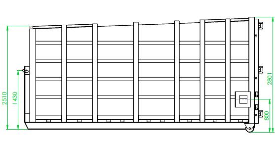 Caisson de compaction 26 m³