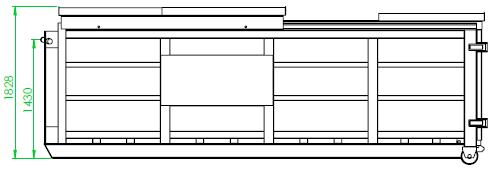 Benne toit coulissant 15 m³