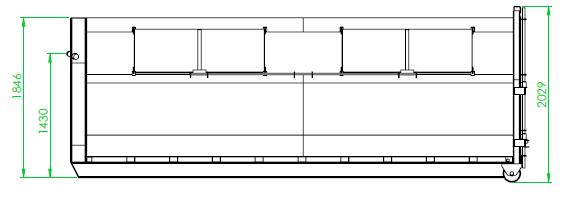 Benne fermée 15 m³